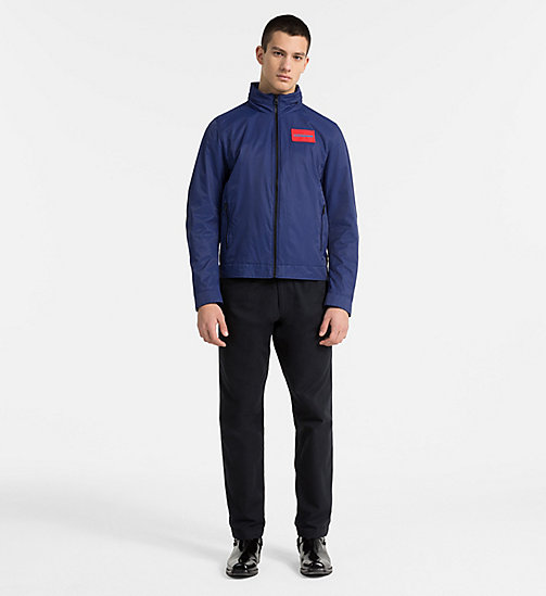 CALVIN KLEIN JEANS Techno Twill Hooded Jacket - BLUE DEPTHS - CALVIN KLEIN JEANS CLOTHES - detail image 1