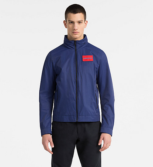 CALVIN KLEIN JEANS Techno Twill Hooded Jacket - BLUE DEPTHS - CALVIN KLEIN JEANS CLOTHES - main image