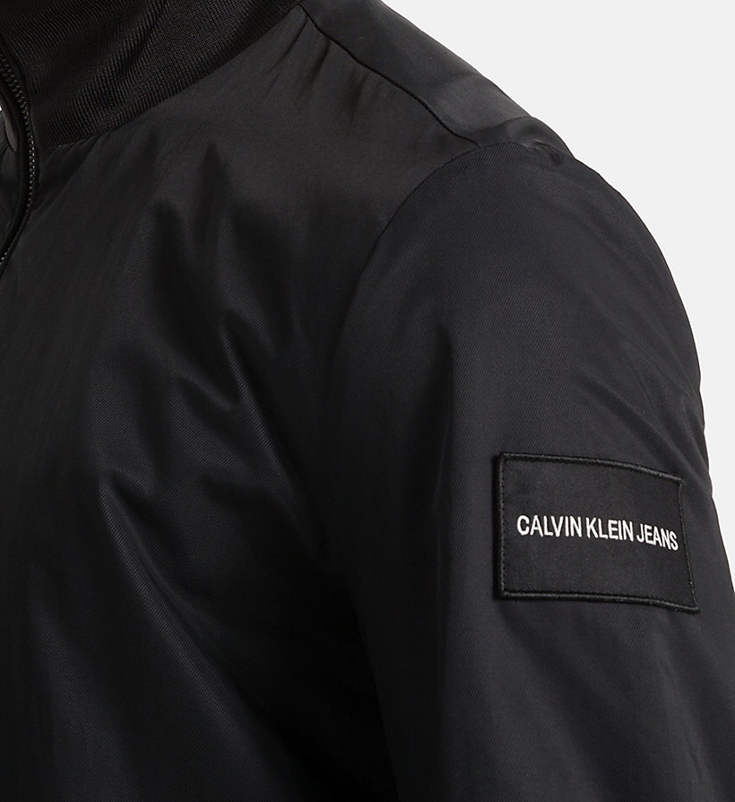 CALVIN KLEIN JEANS Techno Twill Bomber Jacket - BLUE DEPTHS - CALVIN KLEIN JEANS MEN - detail image 2