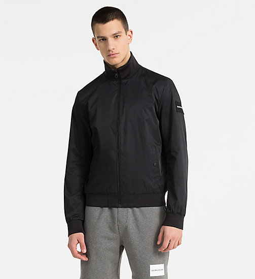 CALVIN KLEIN JEANS Techno Twill Bomber Jacket - CK BLACK - CALVIN KLEIN JEANS PACK YOUR BAG - main image