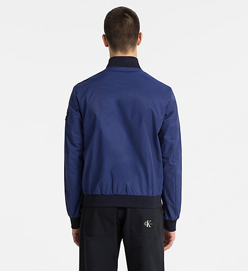 CALVIN KLEIN JEANS Techno Twill Bomber Jacket - BLUE DEPTHS - CALVIN KLEIN JEANS NEW IN - detail image 1