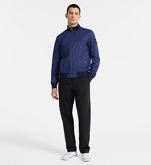 CALVIN KLEIN JEANS Techno Twill Bomber Jacket - BLUE DEPTHS - CALVIN KLEIN JEANS CLOTHES - detail image 1