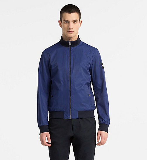 CALVIN KLEIN JEANS Techno Twill Bomber Jacket - BLUE DEPTHS - CALVIN KLEIN JEANS CLOTHES - main image