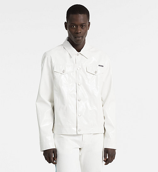 CALVIN KLEIN JEANS Vinyl Trucker Jacket - BRIGHT WHITE - CALVIN KLEIN JEANS NEW IN - main image