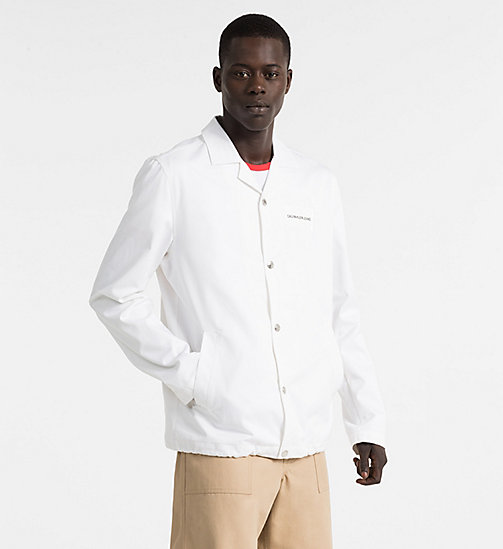 CALVIN KLEIN JEANS Logo Coach Jacket - BRIGHT WHITE - CALVIN KLEIN JEANS PACK YOUR BAG - main image