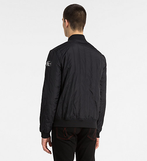 CALVIN KLEIN JEANS Quilted Nylon Bomber Jacket - CK BLACK - CALVIN KLEIN JEANS CLOTHES - detail image 1