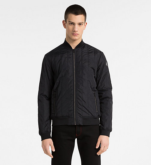 CALVIN KLEIN JEANS Quilted Nylon Bomber Jacket - CK BLACK - CALVIN KLEIN JEANS CLOTHES - main image