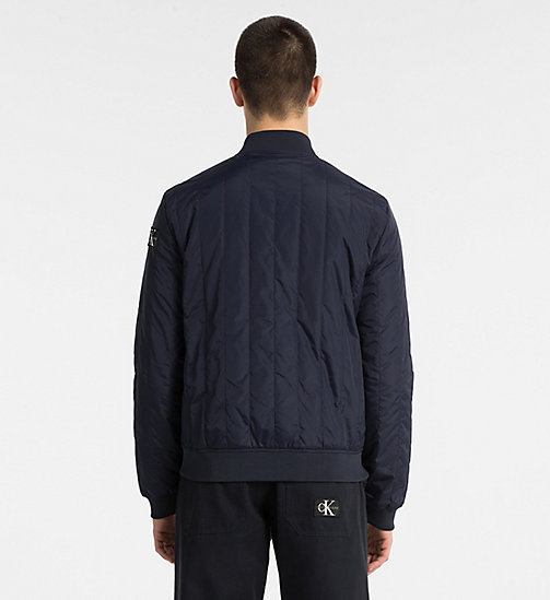 CALVIN KLEIN JEANS Quilted Nylon Bomber Jacket - NIGHT SKY - CALVIN KLEIN JEANS CLOTHES - detail image 1