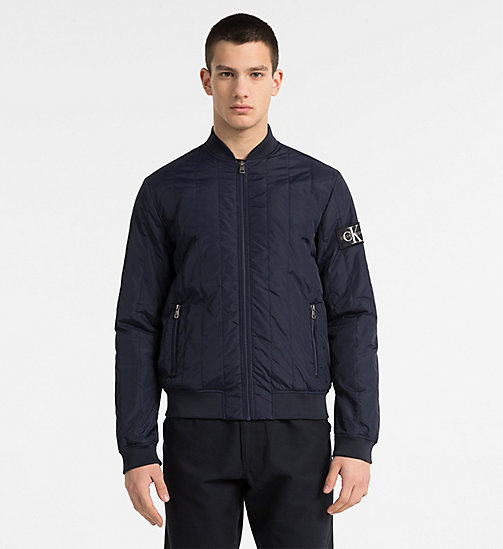 CALVIN KLEIN JEANS Quilted Nylon Bomber Jacket - NIGHT SKY - CALVIN KLEIN JEANS NEW IN - main image