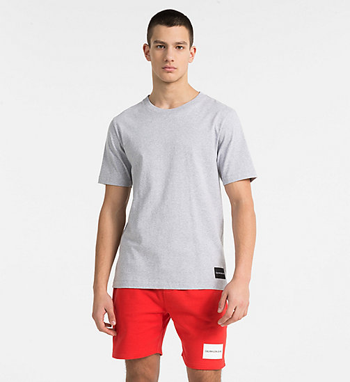 CALVIN KLEIN JEANS Organic Cotton T-shirt - GREY HEATHER MC1620/B38 VOL 39 - CALVIN KLEIN JEANS CLOTHES - main image