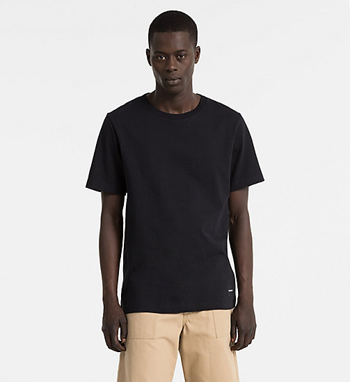 CALVIN KLEIN JEANS Basic Cotton T-shirt - CK BLACK - CALVIN KLEIN JEANS CLOTHES - main image