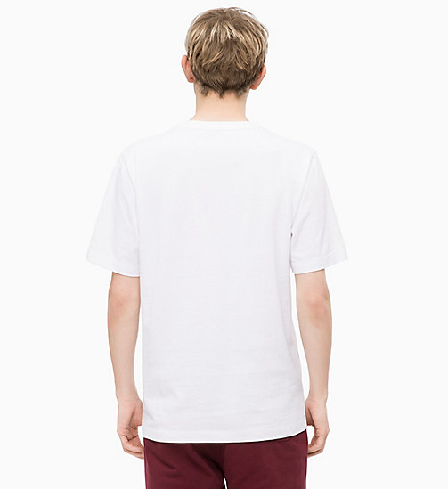 CALVIN KLEIN JEANS Basic Cotton T-shirt - BRIGHT WHITE - CALVIN KLEIN JEANS CLOTHES - detail image 1
