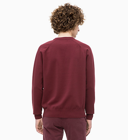 CALVIN KLEIN JEANS Technical Knit Jumper - TAWNY PORT - CALVIN KLEIN JEANS MEN - detail image 1
