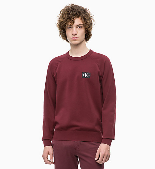 CALVIN KLEIN JEANS Technical Knit Jumper - TAWNY PORT - CALVIN KLEIN JEANS MEN - main image