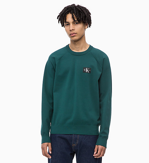 CALVIN KLEIN JEANS Technical Knit Jumper - JUNE BUG - CALVIN KLEIN JEANS KNITWEAR - main image