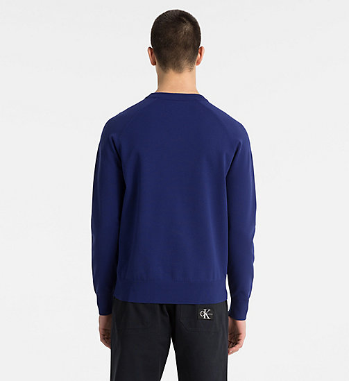 CALVIN KLEIN JEANS Technical Knit Jumper - BLUE DEPTHS - CALVIN KLEIN JEANS CLOTHES - detail image 1