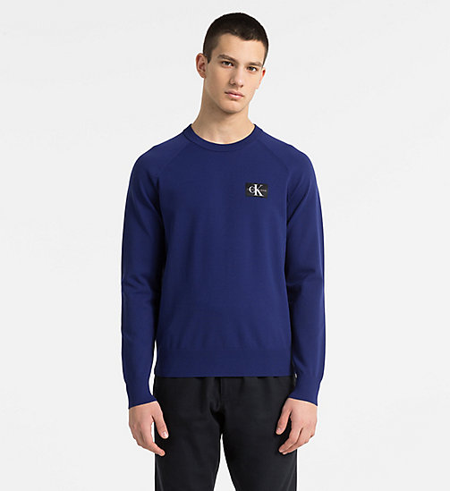 CALVIN KLEIN JEANS Technical Knit Jumper - BLUE DEPTHS - CALVIN KLEIN JEANS JUMPERS - main image