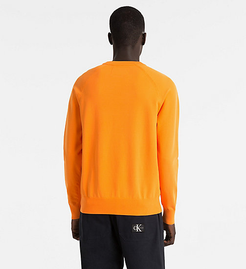 CALVIN KLEIN JEANS Technical Knit Jumper - ORANGE TIGER 16-1358 TCX - CALVIN KLEIN JEANS JUMPERS - detail image 1