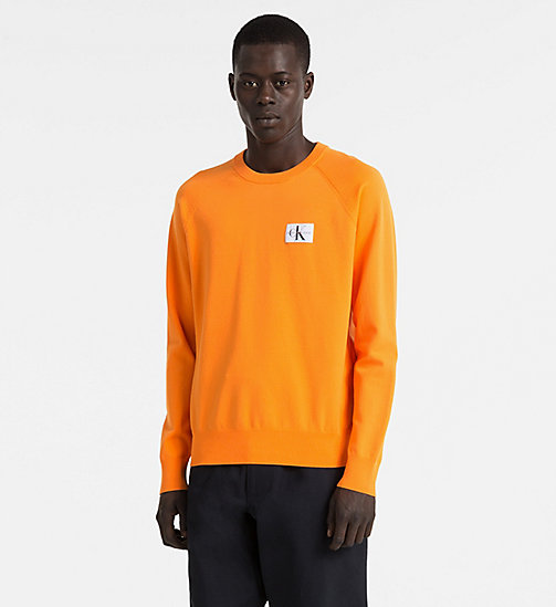 CALVIN KLEIN JEANS Technical Knit Jumper - ORANGE TIGER 16-1358 TCX - CALVIN KLEIN JEANS JUMPERS - main image