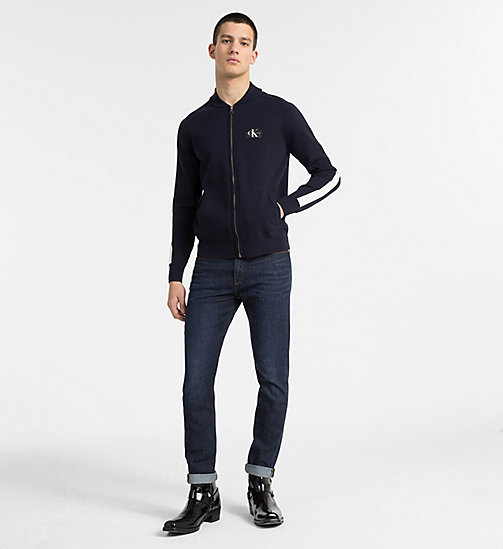 CALVIN KLEIN JEANS Side-Stripe Track Jacket - NIGHT SKY - CALVIN KLEIN JEANS CLOTHES - detail image 1
