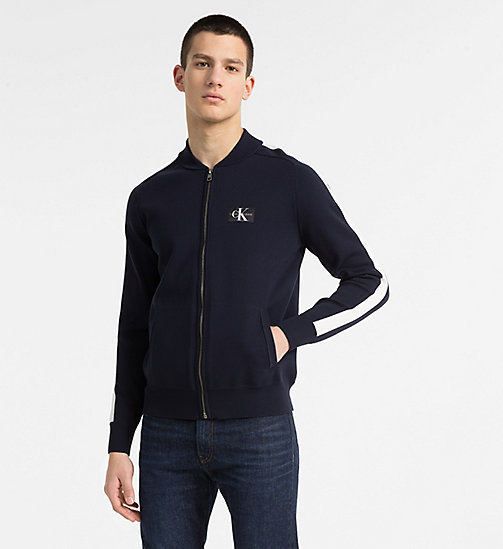 CALVIN KLEIN JEANS Side-Stripe Track Jacket - NIGHT SKY - CALVIN KLEIN JEANS CLOTHES - main image