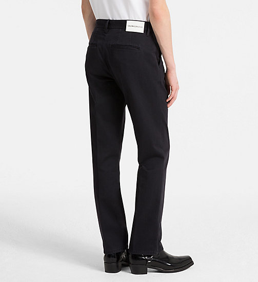 CALVIN KLEIN JEANS Slim Cotton Twill Trousers - CK BLACK - CALVIN KLEIN JEANS CLOTHES - detail image 1
