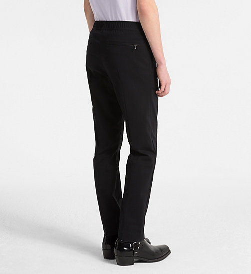 CALVIN KLEIN JEANS Techno Cotton Trousers - CK BLACK - CALVIN KLEIN JEANS CLOTHES - detail image 1