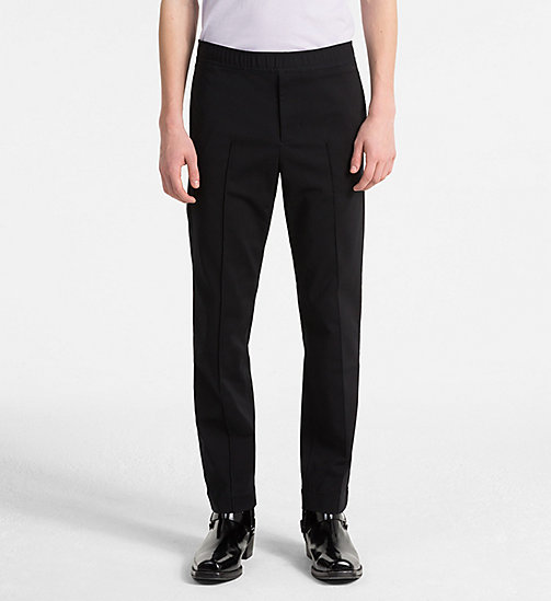 CALVIN KLEIN JEANS Techno Cotton Trousers - CK BLACK - CALVIN KLEIN JEANS CLOTHES - main image