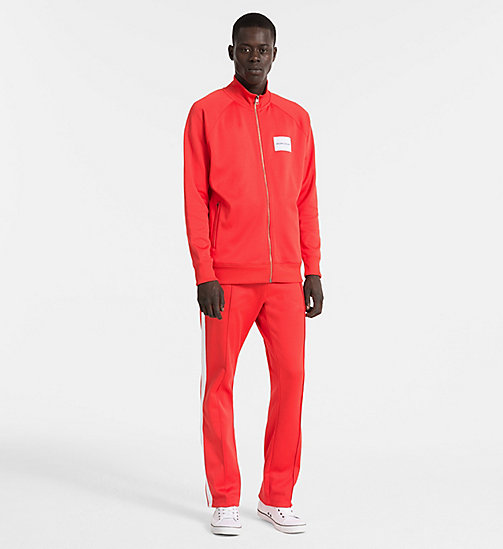 CALVIN KLEIN JEANS Side-Stripe Jogging Pants - TOMATO - CALVIN KLEIN JEANS PACK YOUR BAG - detail image 1