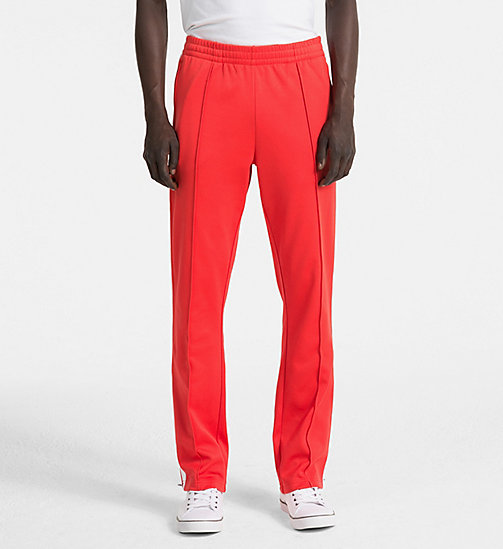 CALVIN KLEIN JEANS Side-Stripe Jogging Pants - TOMATO - CALVIN KLEIN JEANS PACK YOUR BAG - main image