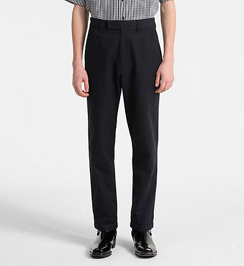 CALVIN KLEIN JEANS Straight Canvas Worker Trousers - NIGHT SKY - CALVIN KLEIN JEANS CLOTHES - main image