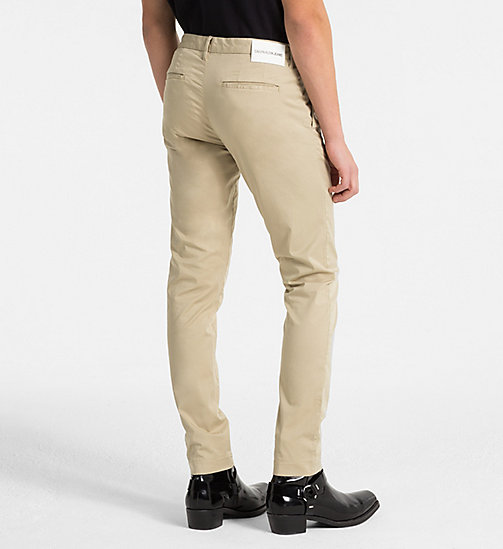 CALVIN KLEIN JEANS Slim Chino Trousers - TRAVERTINE -  CLOTHES - detail image 1