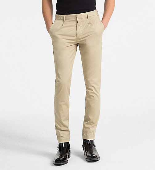 CALVIN KLEIN JEANS Slim Chino Trousers - TRAVERTINE - CALVIN KLEIN JEANS NEW IN - main image