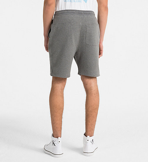 CALVIN KLEIN JEANS Slim korte joggingbroek met logo - GREY HEATHER - CALVIN KLEIN JEANS HEAT WAVE - detail image 1