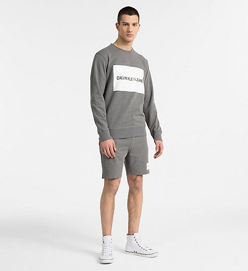 CALVIN KLEIN JEANS Slim Logo Jogger Shorts - GREY HEATHER -  HEAT WAVE - detail image 1