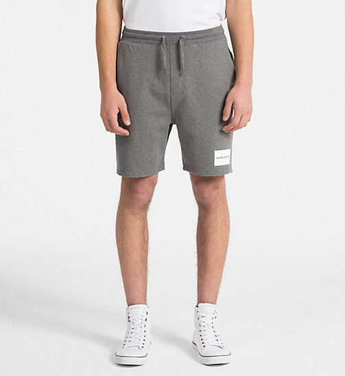 CALVIN KLEIN JEANS Slim Logo Jogger Shorts - GREY HEATHER -  HEAT WAVE - main image