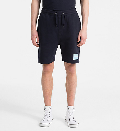 CALVIN KLEIN JEANS Slim Logo Jogger Shorts - NIGHT SKY -  HEAT WAVE - main image