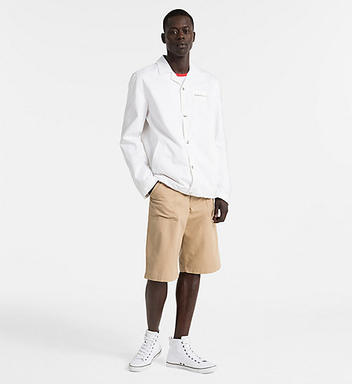 CALVIN KLEIN JEANS Straight Fit Arbeitsshorts aus Canvas - TRAVERTINE - CALVIN KLEIN JEANS CLOTHES - main image 1