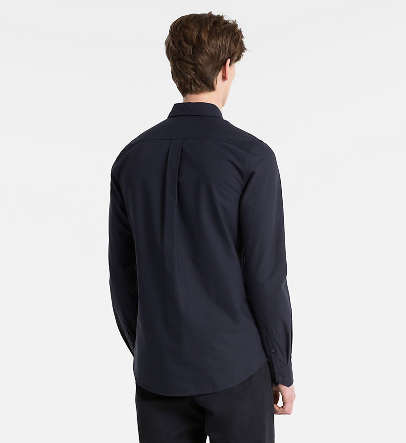 CALVIN KLEIN JEANS Slim Oxford Cotton Shirt - REGATTA - CALVIN KLEIN JEANS MEN - detail image 2