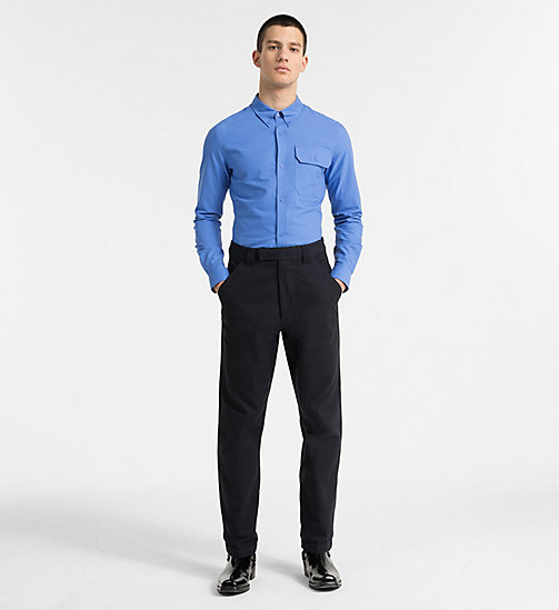 CALVIN KLEIN JEANS Slim Oxford Cotton Shirt - REGATTA - CALVIN KLEIN JEANS NEW IN - detail image 1