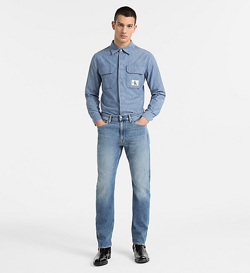 CALVIN KLEIN JEANS Indigo Denim Shirt - LIGHT INDIGO - CALVIN KLEIN JEANS CLOTHES - detail image 1