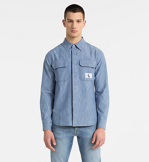 CALVIN KLEIN JEANS Indigo Denim Shirt - LIGHT INDIGO - CALVIN KLEIN JEANS CLOTHES - main image