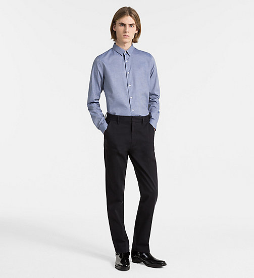 CALVIN KLEIN JEANS Slim Cotton Dobby Shirt - SKY BLUE - CALVIN KLEIN JEANS NEW IN - detail image 1