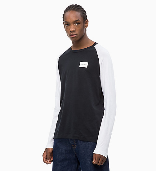 CALVIN KLEIN JEANS Two-Tone Raglan T-shirt - CK BLACK / BRIGHT WHITE - CALVIN KLEIN JEANS CLOTHES - main image
