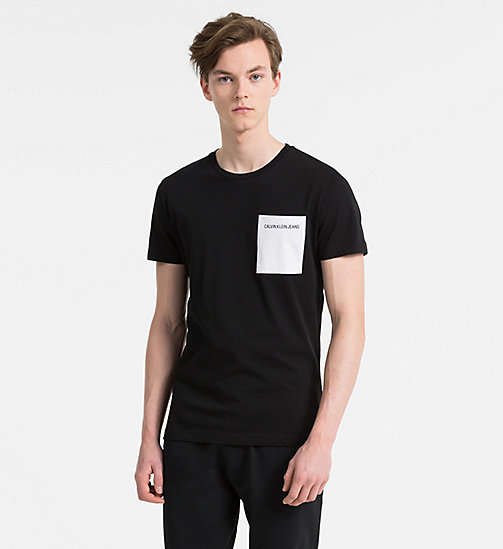 CALVIN KLEIN JEANS Slim Organic Cotton T-shirt - CK BLACK - CALVIN KLEIN JEANS NEW IN - main image