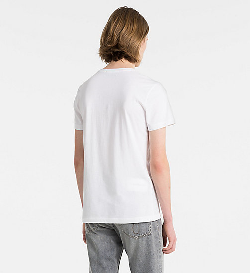 CALVIN KLEIN JEANS Slim Organic Cotton T-shirt - BRIGHT WHITE - CALVIN KLEIN JEANS CLOTHES - detail image 1