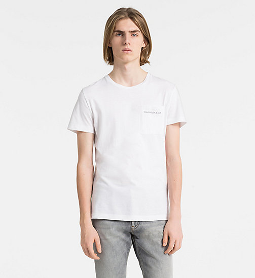 CALVIN KLEIN JEANS Slim Organic Cotton T-shirt - BRIGHT WHITE - CALVIN KLEIN JEANS CLOTHES - main image