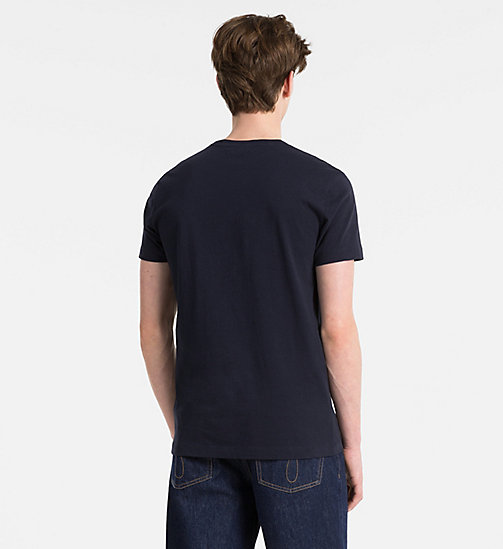 CALVIN KLEIN JEANS Slim Organic Cotton T-shirt - NIGHT SKY - CALVIN KLEIN JEANS CLOTHES - detail image 1