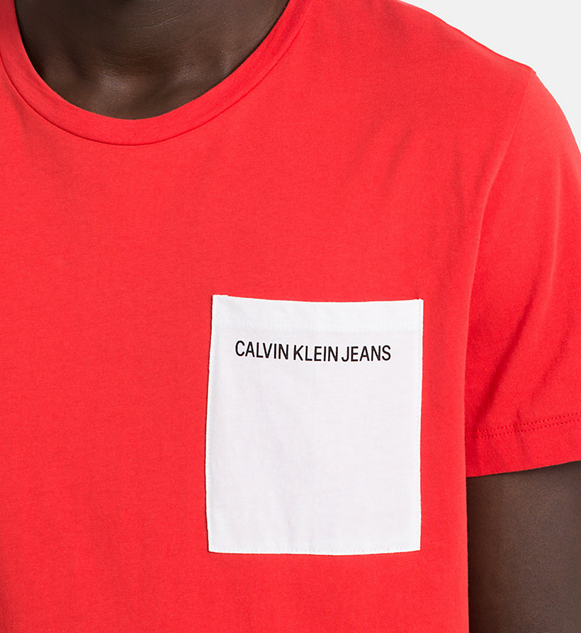 CALVIN KLEIN JEANS Slim Organic Cotton T-shirt - BRIGHT WHITE - CALVIN KLEIN JEANS MEN - detail image 3