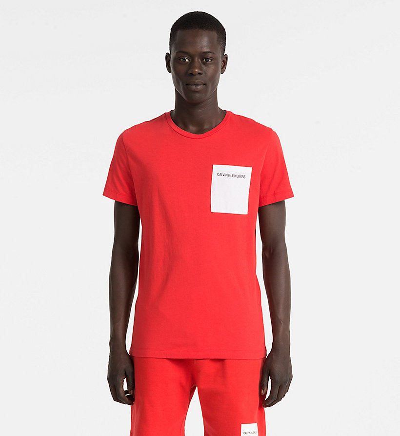 CALVIN KLEIN JEANS Slim Organic Cotton T-shirt - BRIGHT WHITE - CALVIN KLEIN JEANS MEN - main image